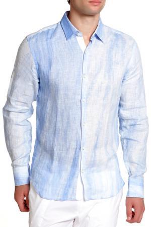 Рубашка Azzaro. Цвет: голубой