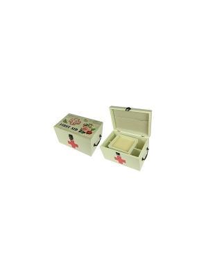 Шкатулка для хранения мед препаратов Винтаж Русские подарки. Цвет: белый