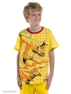 Футболка Batman. Цвет: желтый