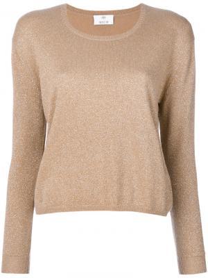 Блестящий свитер Allude. Цвет: телесный