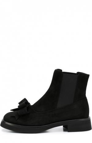 Замшевые ботинки Aleksander с бантом Aleksandersiradekian. Цвет: черный