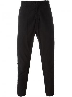 Укороченные брюки Blue Japan. Цвет: чёрный