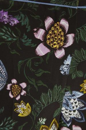 Шелковые брюки с принтом Giulia Erdem. Цвет: multicolor