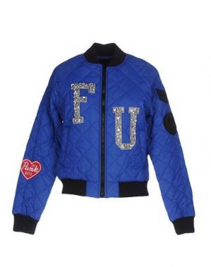Куртка FOLLOW US. Цвет: ярко-синий