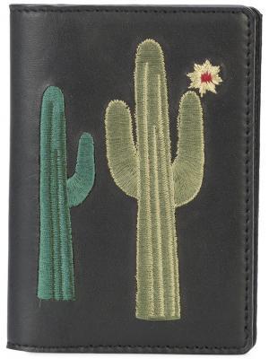 Кошелек с вышивкой кактусов Lizzie Fortunato Jewels. Цвет: чёрный