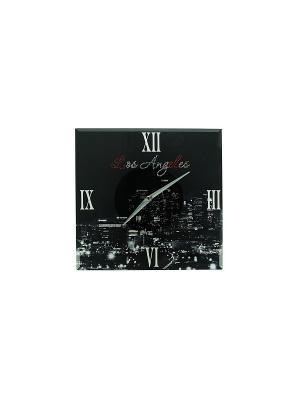 Часы настенные Лос Анжелес Русские подарки. Цвет: белый, черный