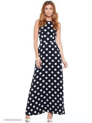 Платье CLABIN. Цвет: темно-синий
