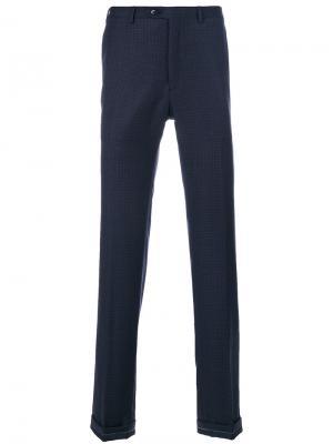 Классические брюки-чинос Brioni. Цвет: синий