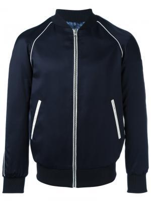 Куртка на молнии Grey Daniele Alessandrini. Цвет: синий