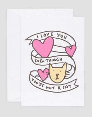 Veronica Dearly Открытка I Love You. Цвет: мульти
