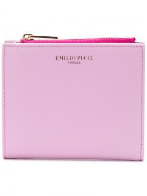 Бумажник с логотипом Emilio Pucci. Цвет: розовый и фиолетовый