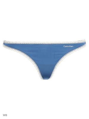 Трусики Calvin Klein. Цвет: синий, белый