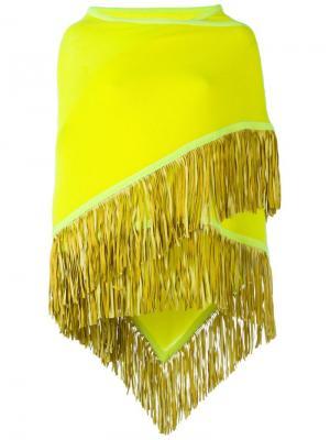 Пончо Fransenschal Antonia Zander. Цвет: жёлтый и оранжевый