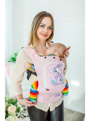Эргономичный рюкзак Зайка Sling Me. Цвет: розовый