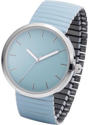 Часы на эластичном браслете (нежно-голубой) bonprix. Цвет: нежно-голубой