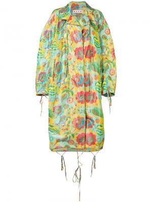 Пальто с цветочным принтом Marni. Цвет: многоцветный