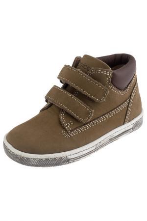 Ботинки Chicco. Цвет: коричневый, бежевый