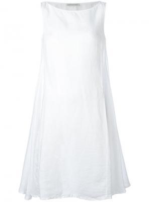 Расклешенное платье Stefano Mortari. Цвет: белый