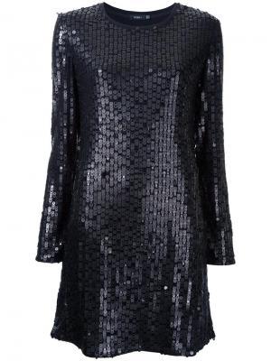 Платье декорированное пайетками Goen.J. Цвет: чёрный