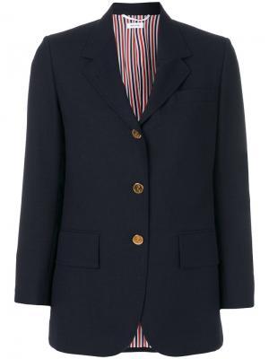 Классический пиджак Thom Browne. Цвет: синий