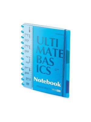 Бизнес-блокнот  с пластиковой линейкой а4, 80 л. гр.ultimate basics, разделители, синий Альт. Цвет: синий