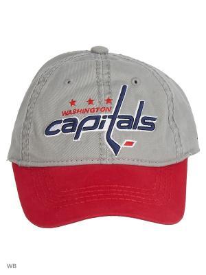 Бейсболка NHL Capitals Atributika & Club. Цвет: серый