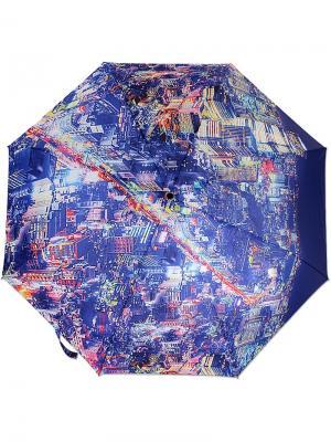 Зонт MOSCHINO. Цвет: темно-синий,лазурный,лиловый
