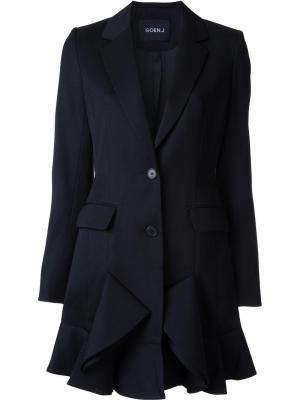Удлиненный пиджак Goen.J. Цвет: чёрный