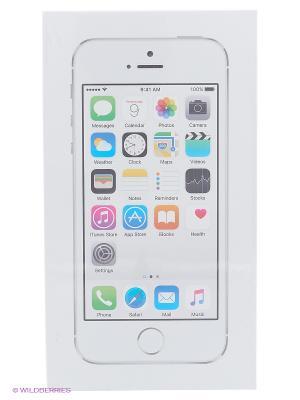Смартфон Apple ME433RU/A iPhone 5s 16Gb серебристый. Цвет: белый