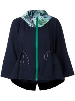 Укороченная спортивная куртка Sàpopa. Цвет: синий