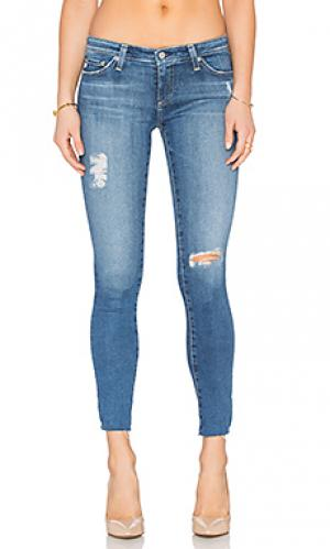 Узкие джинсы legging ankle AG Adriano Goldschmied. Цвет: none