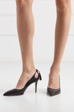 Кожаные туфли Forever Marilyn Aquazzura. Цвет: none