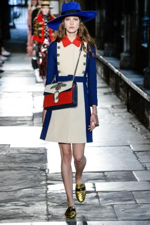 Шерстяное пальто Gucci. Цвет: multicolor
