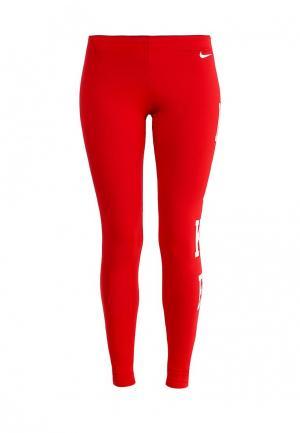 Леггинсы Nike. Цвет: красный