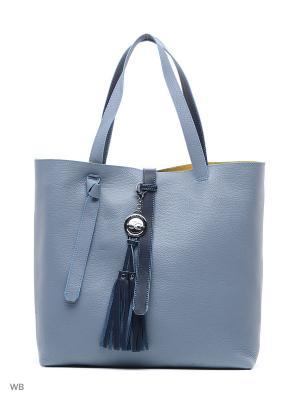 Сумка Jacky&Celine. Цвет: голубой, темно-синий, бирюзовый