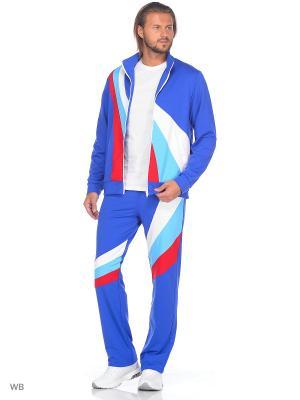 Спортивный костюм FORLIFE. Цвет: синий, белый, красный