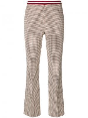 Клетчатые укороченные брюки Dorothee Schumacher. Цвет: телесный