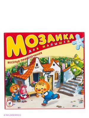 Мозаика для малышей Веселые приключения Чиполлино Дрофа-Медиа. Цвет: красный, желтый