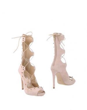 Полусапоги и высокие ботинки SPAZIOMODA. Цвет: светло-розовый