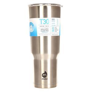Термокружка  Tumbler 30 Stainless Black Drip Mizu. Цвет: серый