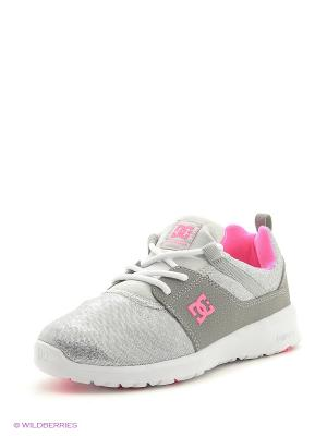 Кроссовки DC Shoes. Цвет: серый, фуксия