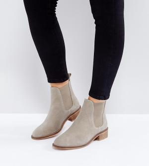 ASOS Замшевые ботинки челси ABSOLUTE. Цвет: бежевый
