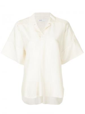 Блузка с короткими рукавами 08Sircus. Цвет: белый