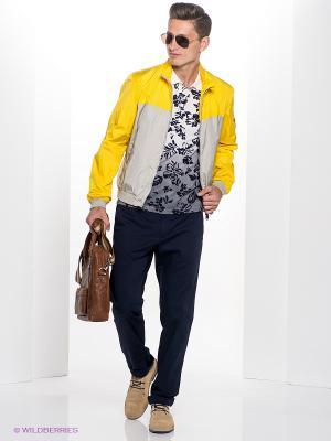 Куртка Henry Cotton's. Цвет: желтый, светло-серый