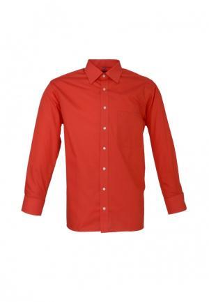 Рубашка Eterna. Цвет: красный