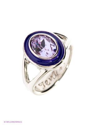 Кольцо Jenavi. Цвет: серебристый, фиолетовый