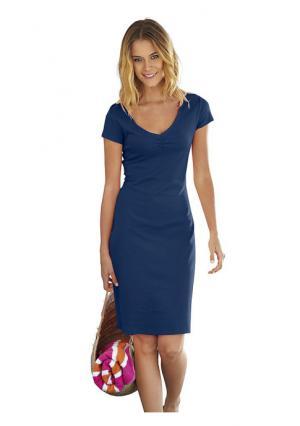 Платье B.C. BEST CONNECTIONS. Цвет: аква, бежевый, белый, голубой, желтый, зеленый, коралловый, красный, лиловый, небесно-голубой, оливковый, оранжевый, розовый, серо-коричневый, серый меланжевый, темно-синий, цвет киви, черный, шоколадный, ярко-розовый