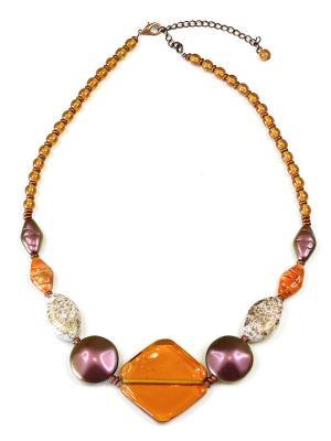 Колье Bohemia Style. Цвет: оранжевый, фиолетовый