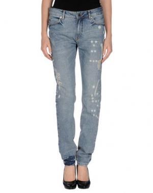 Джинсовые брюки SET. Цвет: синий
