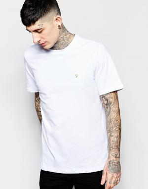 Farah Белая узкая футболка Farris. Цвет: белый